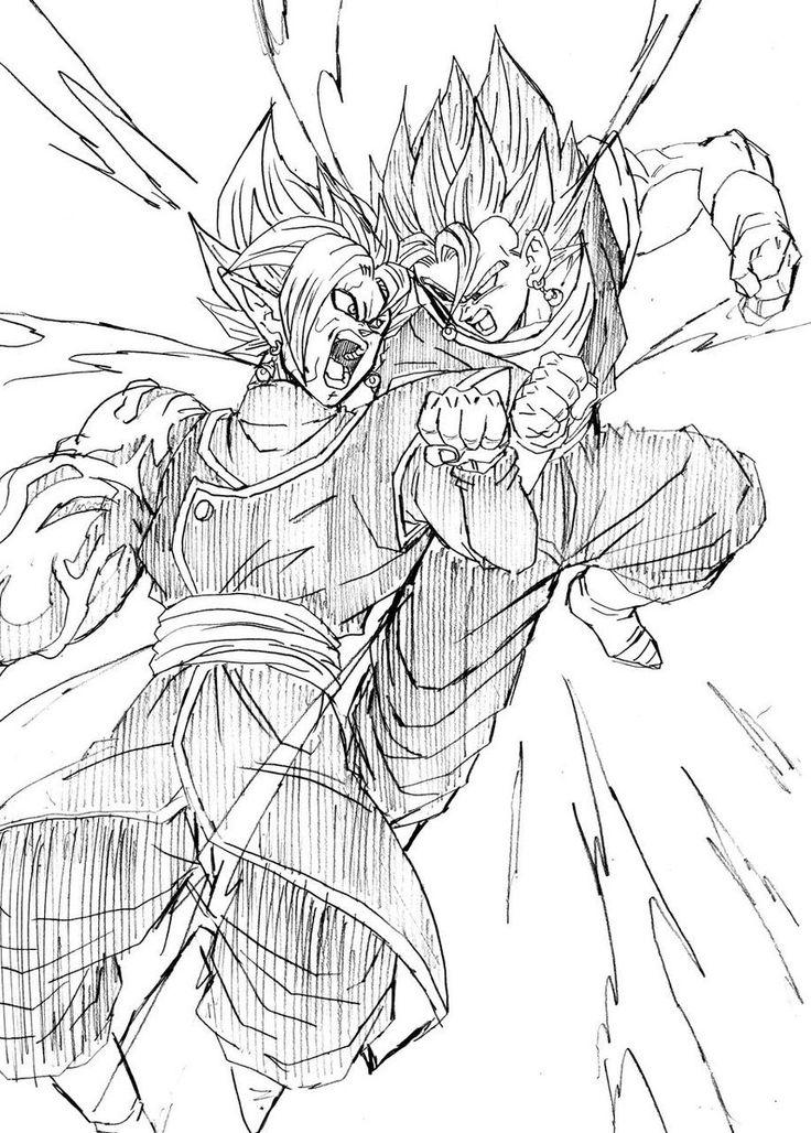 Super Saiyan God Goku And Vegeta Drawn By Young Jijii