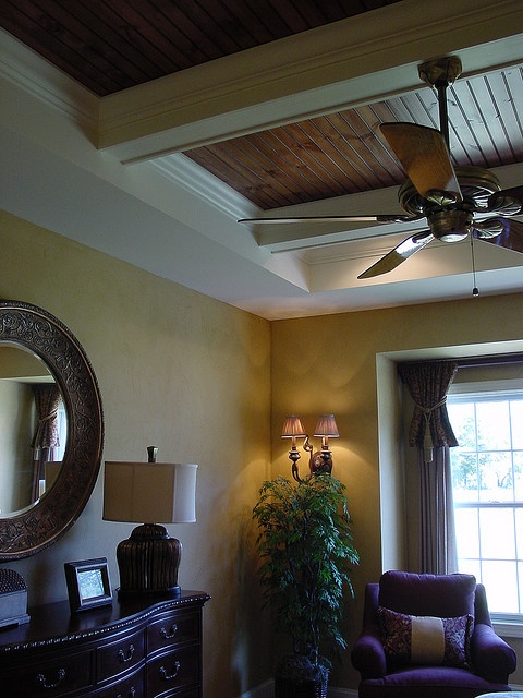 faux leather walls and custom tray ceiling  Ceiling ideas  Pinterest  Window Leather wall