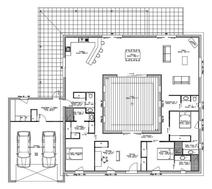 Plans Maison En L Amazing Plans Maison Moderne With Plans Maison En