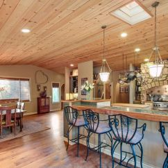 Walnut Kitchen Cabinets Restaurant Mats $999,999...knotty Pine Vaulted Ceilings And ...