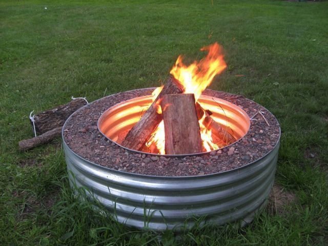 17 Best images about Galvanized Fire Pit Ring on Pinterest