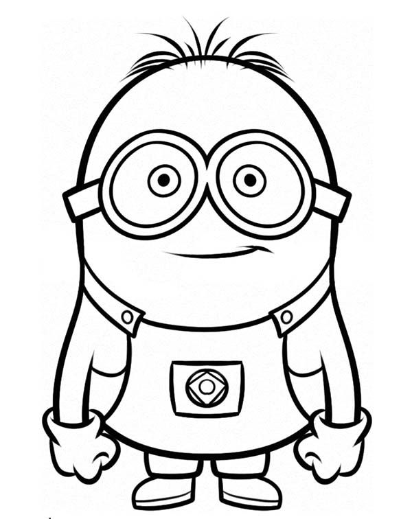 Minion, Stuart is Ready for Adventure The Minion Coloring