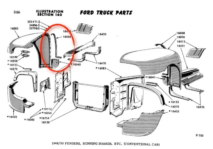 1951 ford truck front fenders