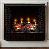 Logs, Tea lights and Fireplaces on Pinterest