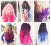 dip dyed hair styles cute