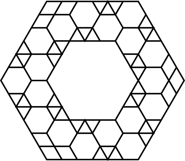 78+ images about Hexagon quilting on Pinterest