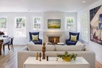 Contemporary living room with dash of color - lemongrass ...