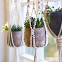 Macrame Plant Hanger / Plant Holder / Hanging Planter ...