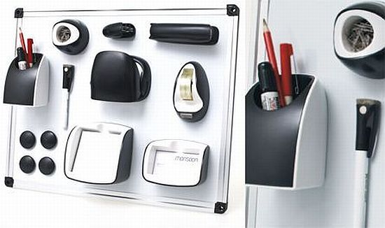 Magnetic Office Set helps you stick your office supplies