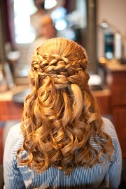 wedding hair - -updo- curls