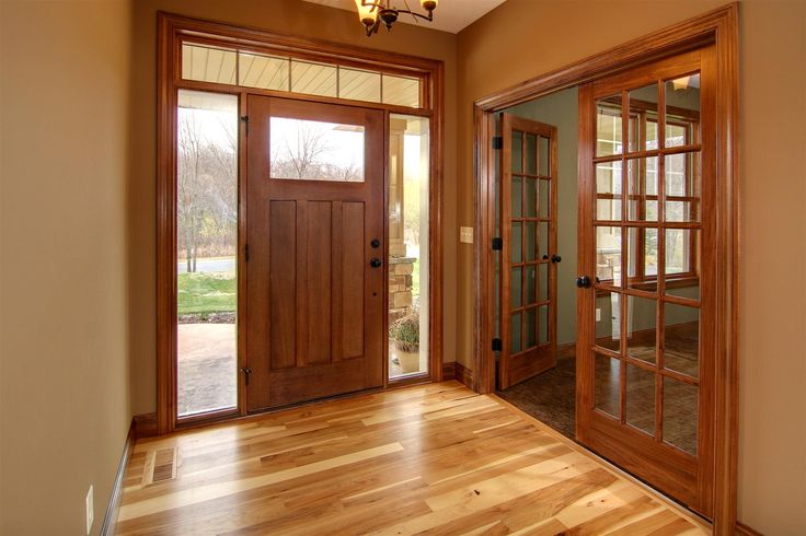 Hickory Floor Cherry Stained Doors And Trim For The