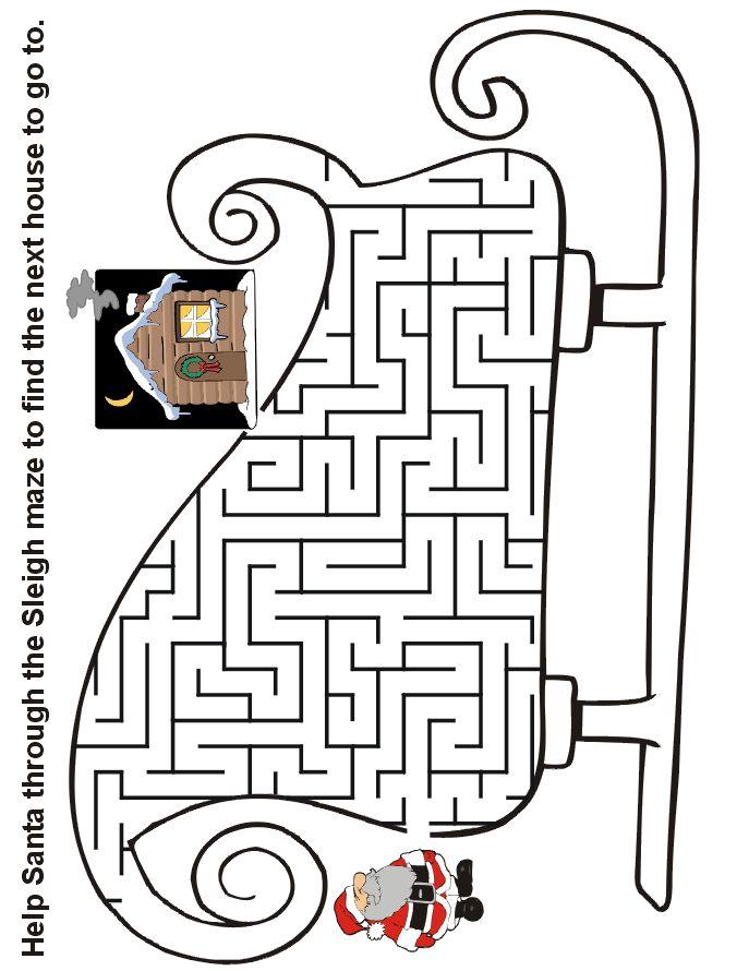 Christmas Maze: Help Santa through the sleigh maze to find