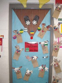 The gallery for --> Christmas Door Decorating Contest Reindeer