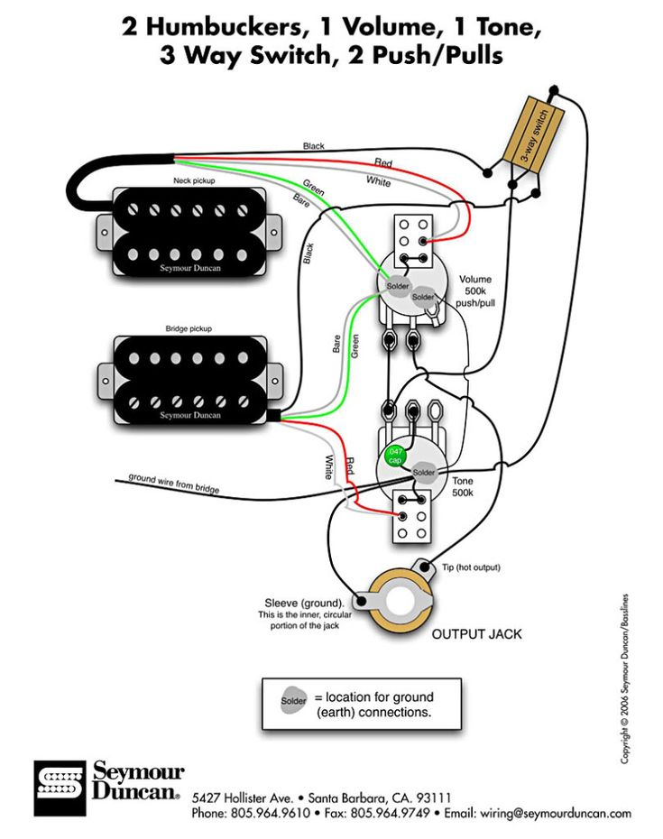 esp ltd ec 1000 wiring diagram 1986 porsche 911 how do i wire an hh guitar with 3-way switch? | guitars pinterest and