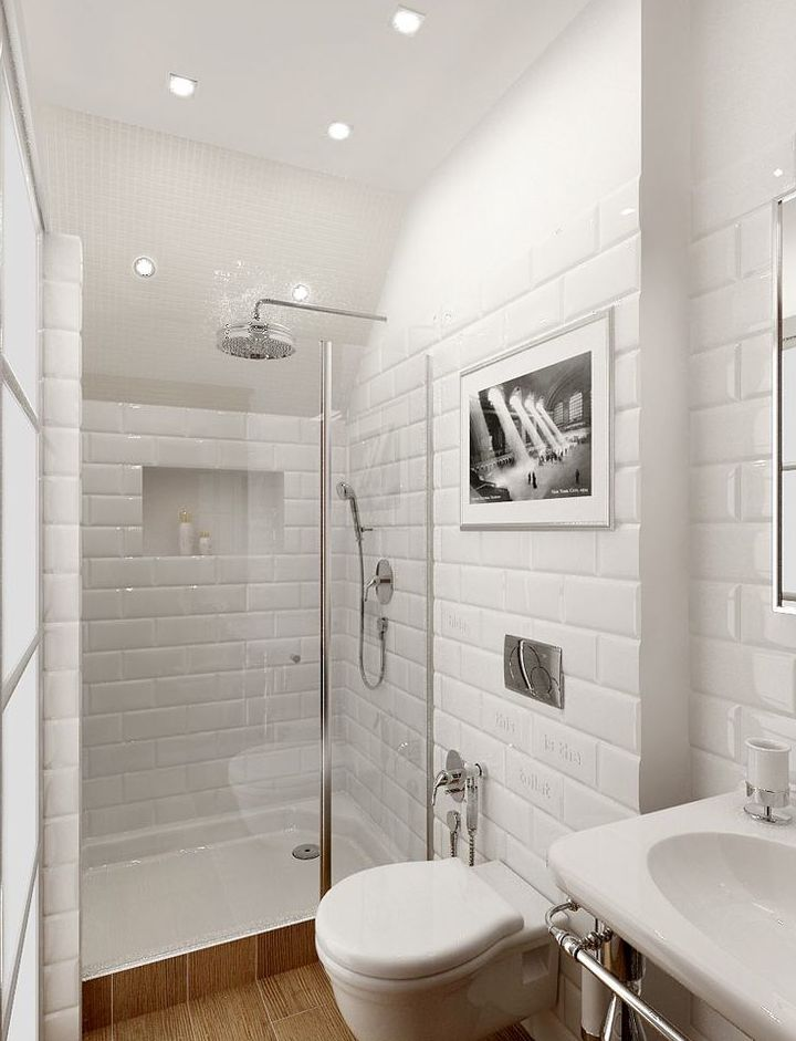 Piastrelle bagno bianche  Boiserie in ceramica per bagno