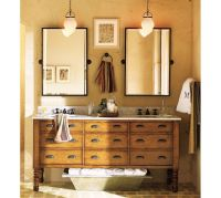 Kensington Pivot Mirror | Pottery Barn. Two bronze tilt ...