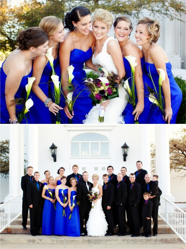 24 best images about future wedding ideas royal blue black white and silver on Pinterest