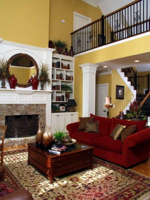 paint colors for living rooms with white trim wall lights room formal room, two-story fireplace ...