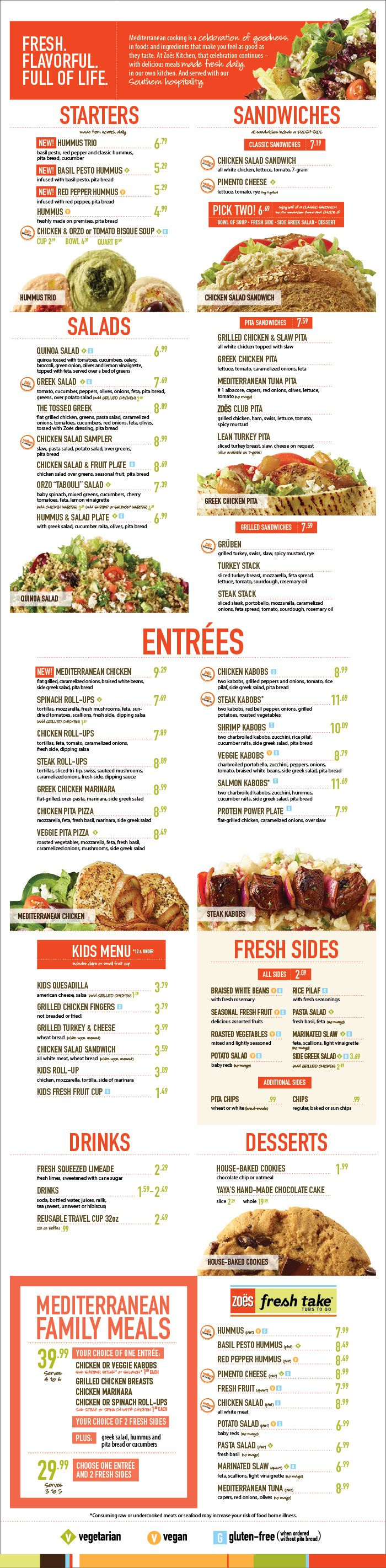 Fort Worth Alliance Great Mediterranean and healthy food at Zoes Kitchen Avoid gruben since