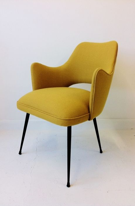 1950s Italian easy chair mustard midcentury chair