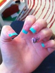 acrylic nail design spring