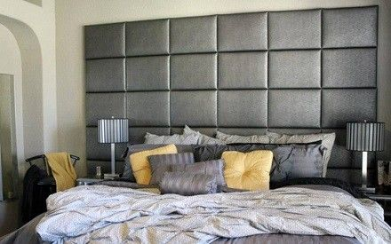 wall mounted tall fabric headboards   Headboards