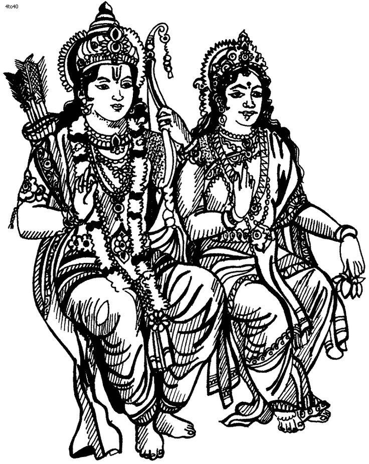 Goddess Lakshmi Colouring Page