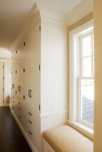 Hallway floor to ceiling storage ideas...modern country ...