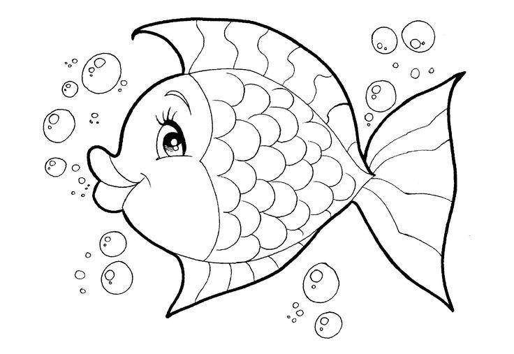 Desenho De Prato De Peixe Para Colorir