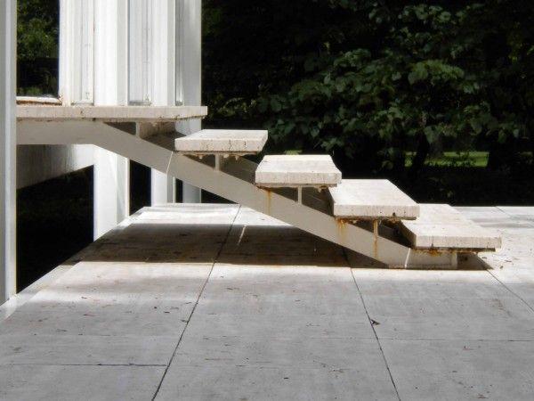 Mies van Der Rohe  Farnsworth house  Stairs  Pinterest