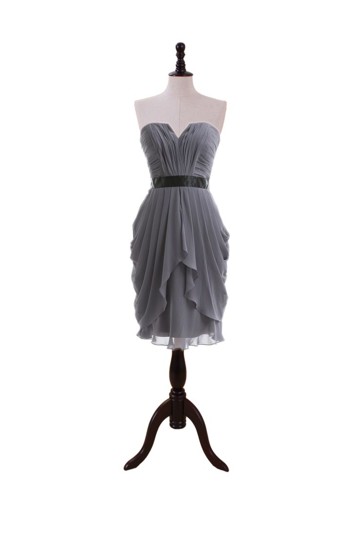 Strapless Chiffon Dress with Dipped V Bodice – Im pretty sure this is our Brides