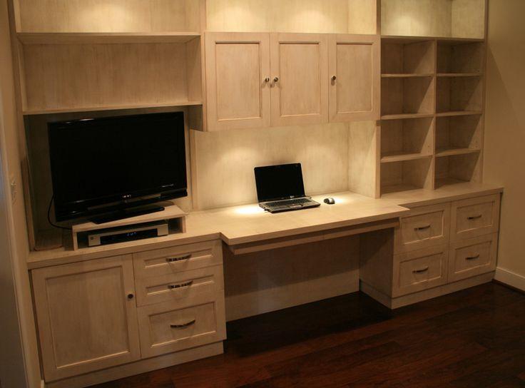 dresser desk  Custom Built  in desk  dresser desk combo