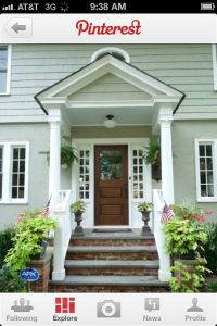 Front door awning addition | Door awning | Pinterest ...