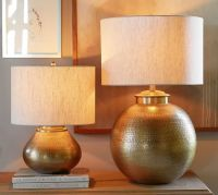 Nori Brass Hammered Table Lamp Bases | Pottery Barn/ the ...
