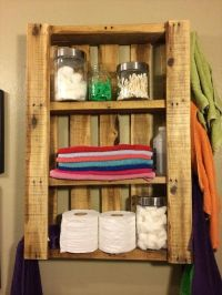 25+ best ideas about Pallet shelf bathroom on Pinterest