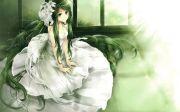 anime girl dress flowers