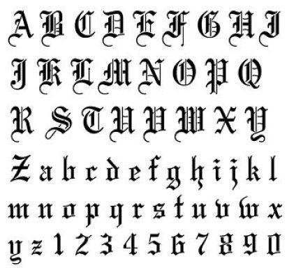 Letras Goticas Abecedario Para Tatuajes Sfb