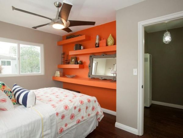 sunset orange for accent wall bedroom 1000+ ideas about Orange Accent Walls on Pinterest