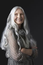 older women long grey hair - google