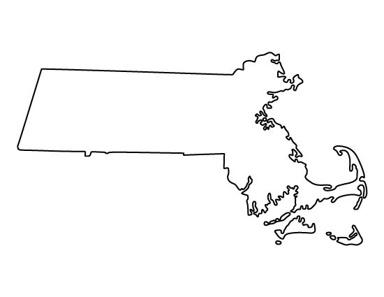 Massachusetts pattern. Use the printable outline for
