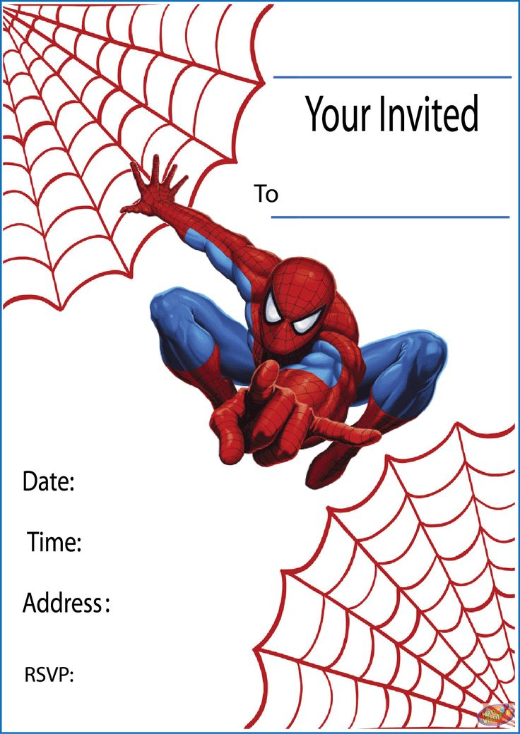 Free Printable Spiderman Party Invitations On Www