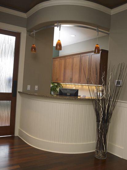 Front Desk with pendant lighting  Dental Office