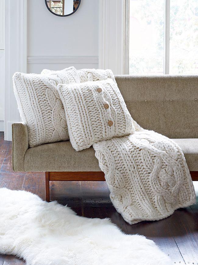 39 best Knitting plaids pillows etc images on Pinterest