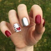 Best 25+ Valentine nails ideas on Pinterest | Valentine ...