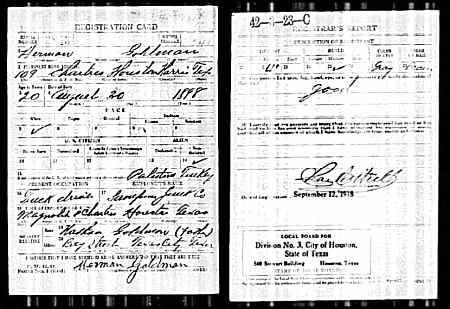 U.S., World War I Draft Registration Cards, 1917-1918 Name
