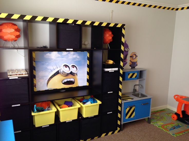 Minion workstation in masons bedroom  Julians Room  Pinterest  Masons Bedrooms and Playrooms