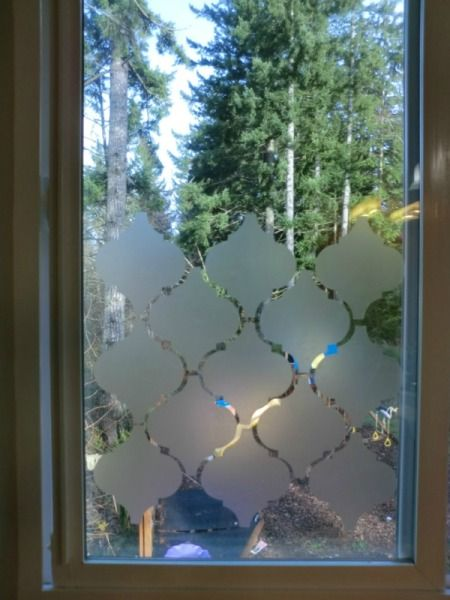 Privacy Window Using Contact Paper  Different shapes