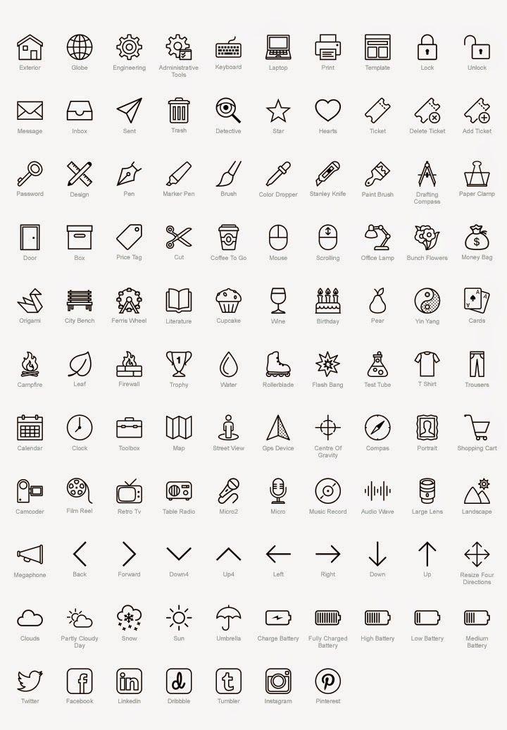 symboles cv word