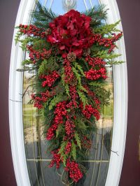 Christmas Teardrop Swag Door Decor | Home for the Holidays ...