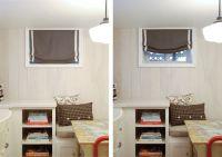 small basement window treatments - Google Search ...
